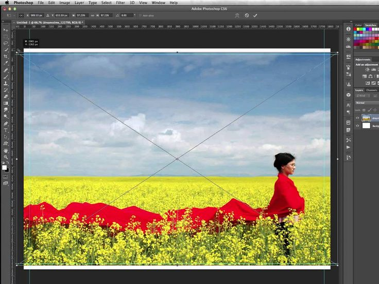 how to create a bleed in photoshop