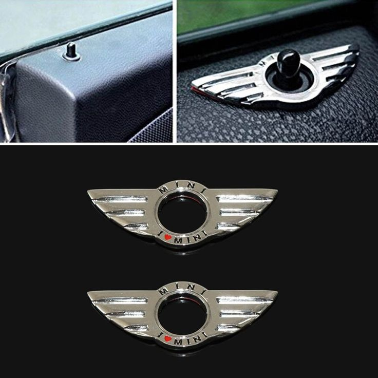 Amazon.com: Dealglad® 2pcs Car Door Lock Metal Wing Emblem Decoration Ring for BMW Mini Cooper Auto Accessories
