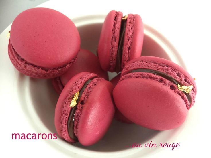 Macarons au vin rouge.... | I Dolci di Pinella