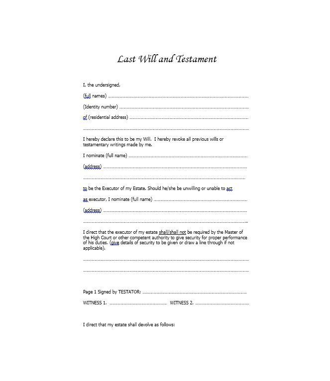 Download Free Will Forms 39 Last Will And Testament Forms Templates Template Lab Will And Testament Doctors Note Template Last Will And Testament