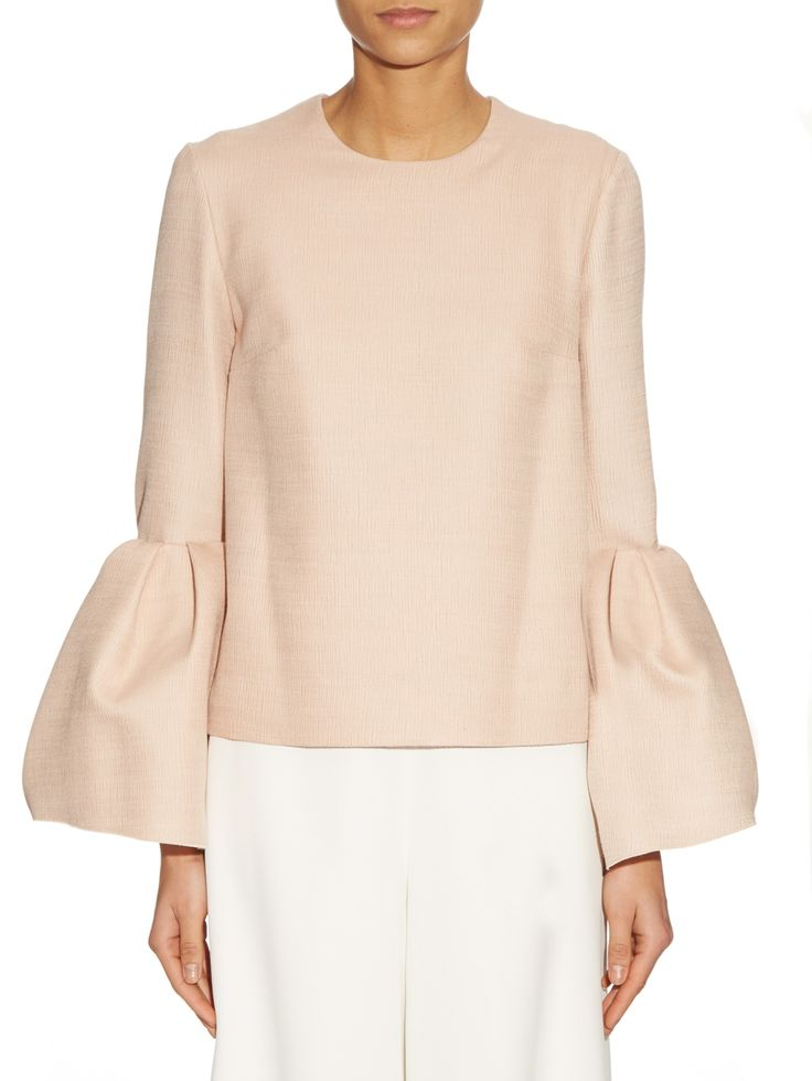 Truffaut bell-sleeve crepe top | Roksanda | MATCHESFASHION.COM