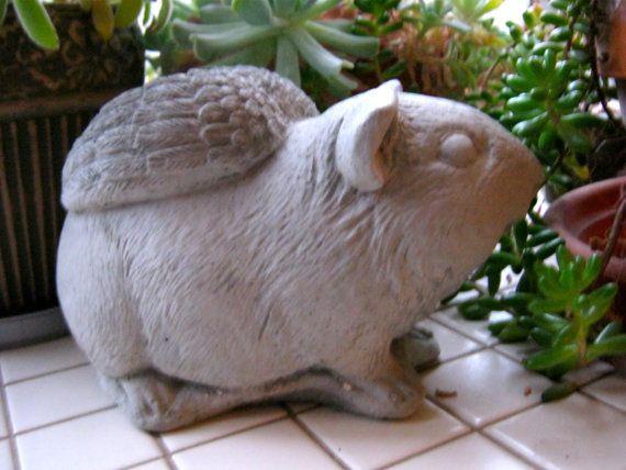 Guinea Pig Angel Statue Garden Statues Pinterest