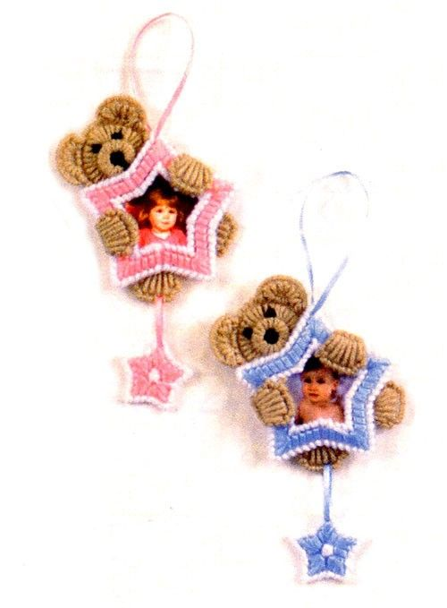 Use plastic canvas and yarn to create this ornament.