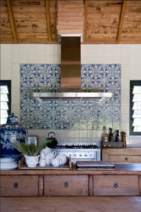 Moroccan Tile Backsplash White Kitchen Handmade Tiles Can Be Colour Coordinated And Customized Re
