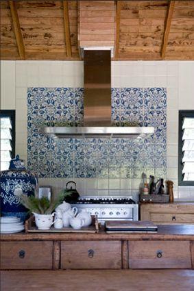 moroccan tile backsplash white kitchen - Handmade tiles can be colour…