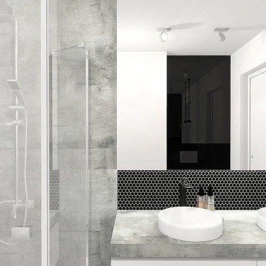 DUNIN Mini Hexagon Black by One Home Katarzyna Chojna   You like it❔ #dunin #hexagon #design #homedecor #bathroom #elegant #perfect #inspiration #tile #grey #white #black #onehome #katarzynachojna #architect #minimalist #luxury