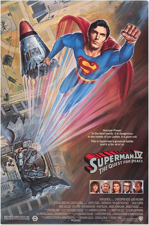Superman 4Awesome Movie, 80S Movie, Superman Iv, Peace 1987, Superhero Movie, Superman Movie, Movie Posters Superman 4, Quest, Peace Movie
