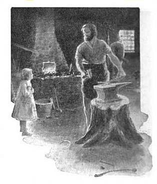 Illustration of The Village Blacksmith