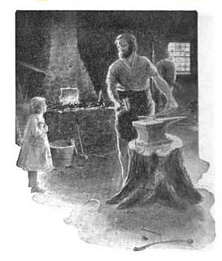 Illustration of The Village Blacksmith