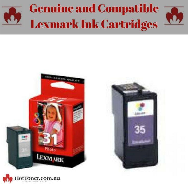Genuine and compatible lexmark ink cartridges at HotToner