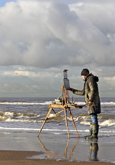 Rubber boots needed   Seascapes plein air