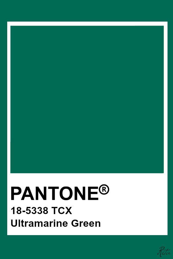 Pantone Ultramarine Green   Pantone swatches, Pantone green, Pantone colour  palettes