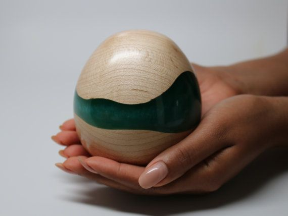 Handmade Wooden Egg Sculpture made of Maple Wood by Colemancrafts