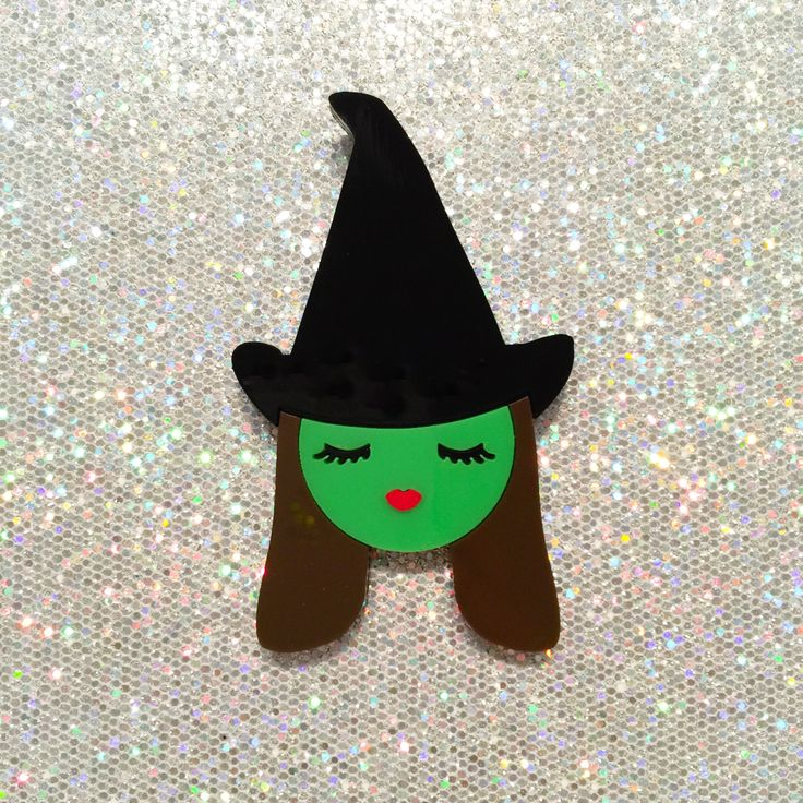 FW15 Costume Party - Wicked Witch of The West - layered acrylic brooch (Valley of The Dolls series) (33.20 USD) by Baccurelli