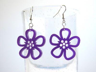 Korvakorut Flos violetti, akryyliä