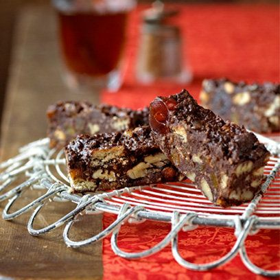 Masala cherry tiffin cake recipe by Ravinder Bhogal. For the full recipe, click the picture or visit RedOnline.co.uk