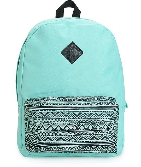 The medium size frame makes this backpack perfect for day-to-day uses, while the mint and tribal print exterior keeps you organized in fresh style.