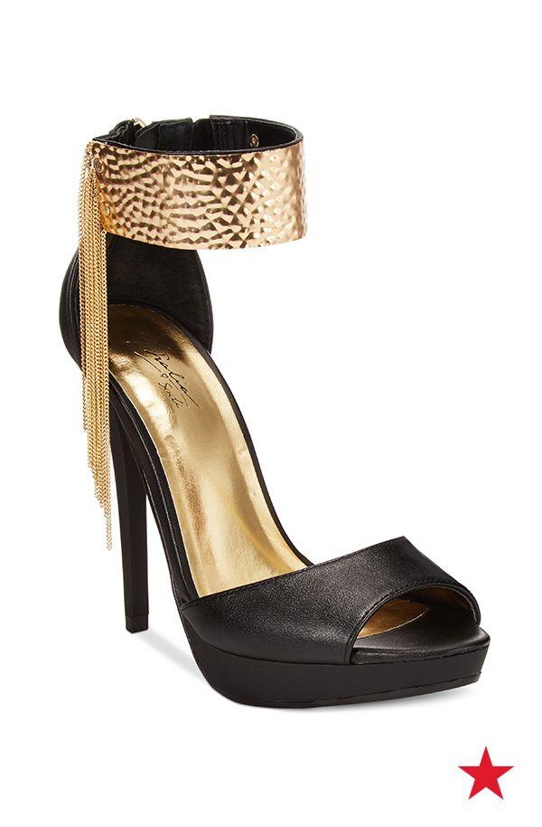 For the girls who like to shake things up on the dance floor... Thalia Sodi Amalia platform fringe dress sandals