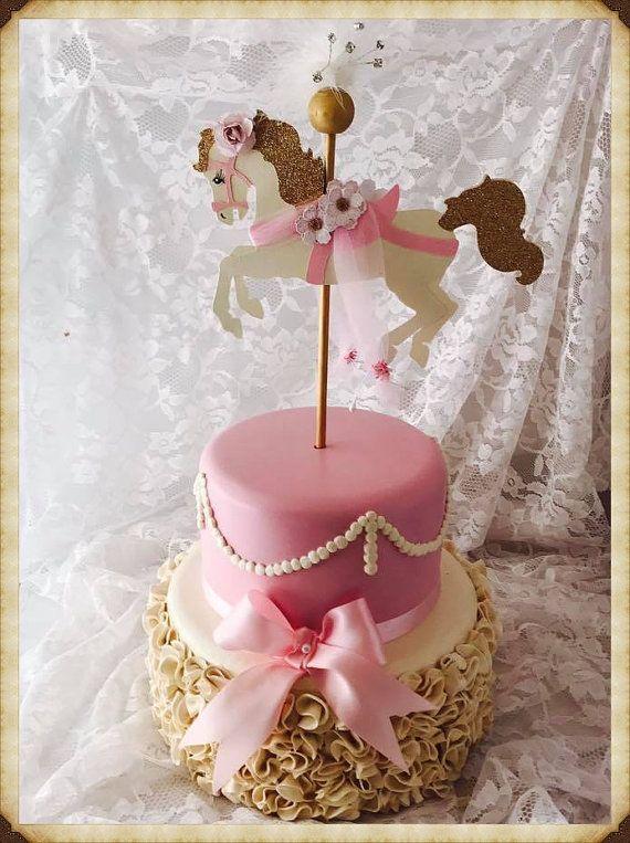 Carousel Horse Cake Topper Carousel Horse by MemoryKeepsakeParty