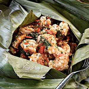 10 Must-Try Exotic Recipes | Grilled Shrimp in Banana-leaf Pouch | CoastalLiving.com