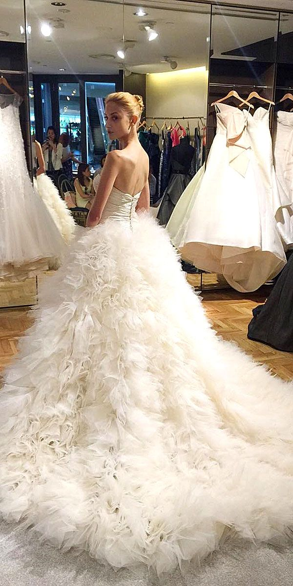 Stunning The Best Ideas About Feather Wedding Dresses With Ostrich Dress