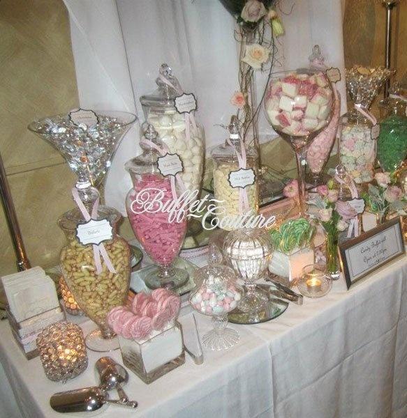 Wedding Candy Buffet Ideas: Candy & Dessert Stations