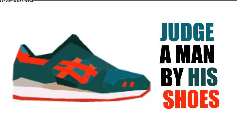 Type and Image placement experiment. #sneakers Promotion.