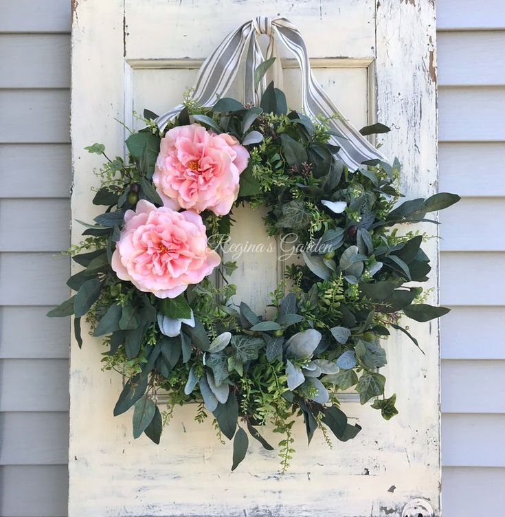 Summer Wreath for Front DoorOlive WreathEucalyptus