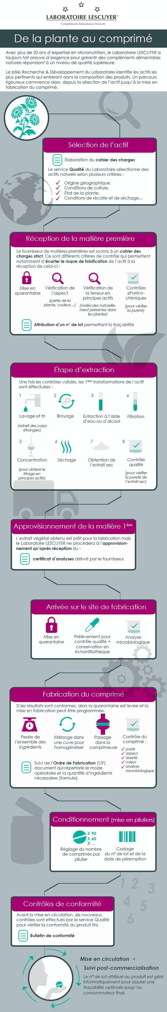 #infographie - De la plante au comprimé