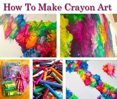 106 best crayon art images on pinterest melted crayons for How to make a melted crayon art canvas