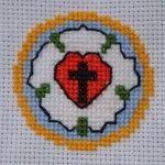 Keresztszemes Luther-rózsa - Cross Stitch - Luther rose - pattern - minta