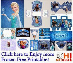 Boîtes et autres reine des neiges - Frozen: Free printable Boxes.