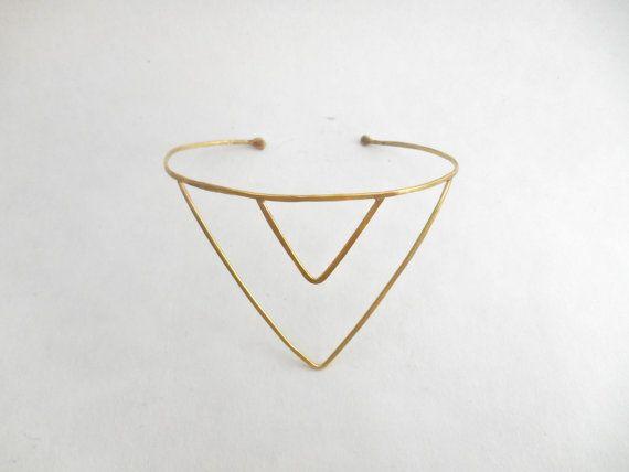 Double Chevron Arrow Upper Arm Cuff by Live Free Spirit on Etsy, Handmade Jewelry