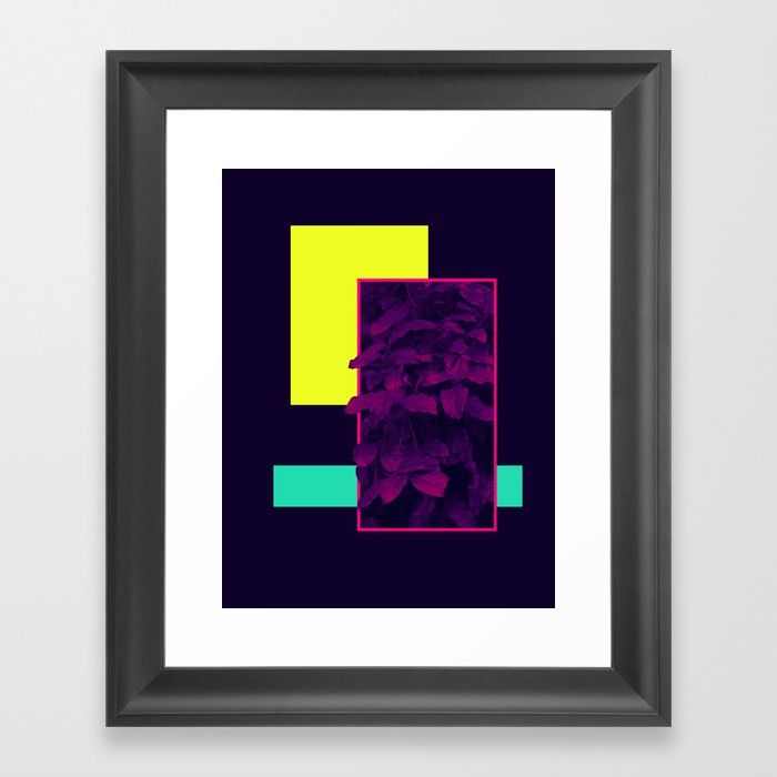 Buy Neon Bush #society6 #retro Framed Art Print by designdn. Worldwide shipping available at Society6.com. Just one of millions of high quality products available.