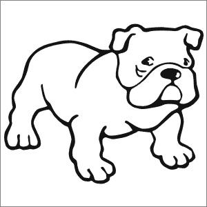Printable Bulldog Coloring Pages