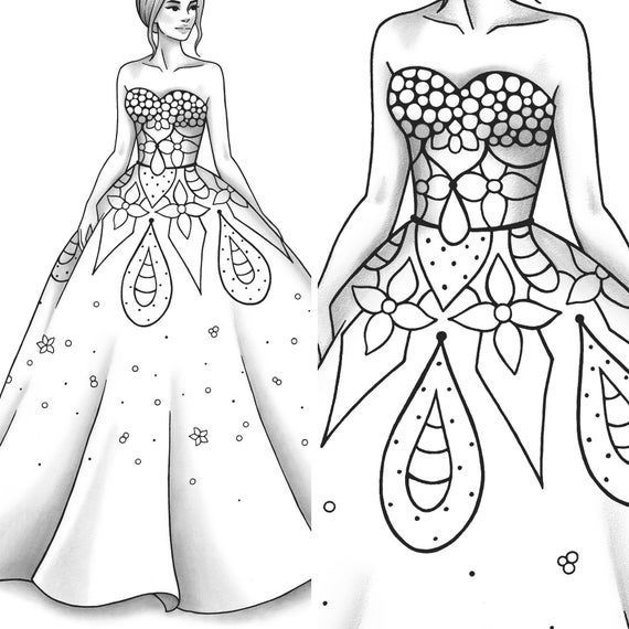 Printable Coloring Page Fashion And Clothes Colouring Sheet Etsy Coloring Pages Fashion Coloring Book Printable Coloring Pages