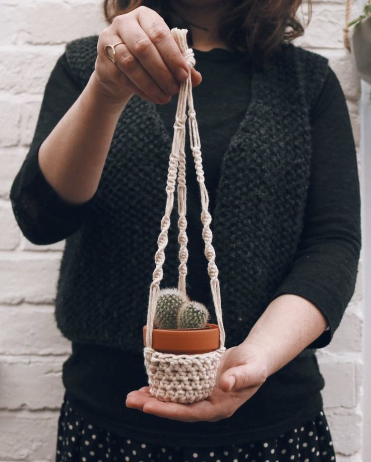 Plant hanger for mini succulents & cacti | carolyn carter makes