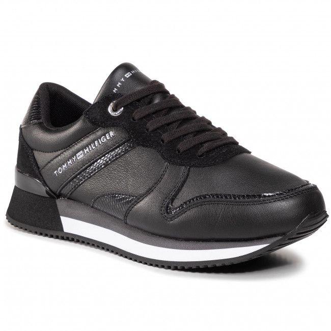 Sneakersy Tommy Hilfiger Corporate Feminine City Sneaker Fw0fw05233 Black Bds Sneakersy Polbuty Damskie Eobuwie City Sneakers Sneakers Tommy Hilfiger