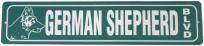 German Shepherd Blvd. Novelty Street Sign