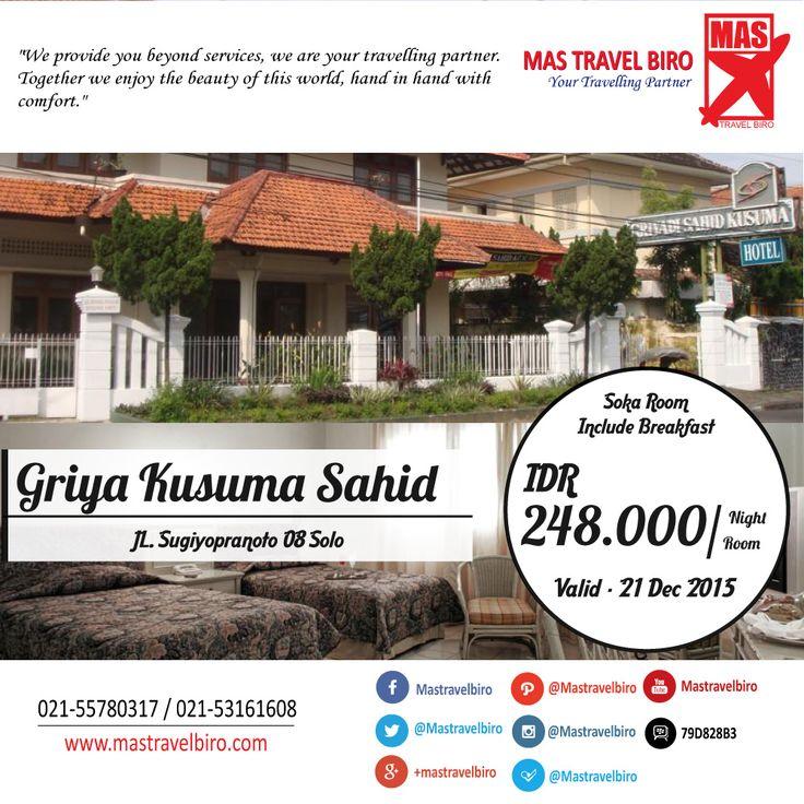 Menginap di Griya Kusuma Sahid Solo Mulai Dari Rp 248.000/Malam , Yuk Pesan ! ;) #hotel #promo #solo #griyakusumasahid