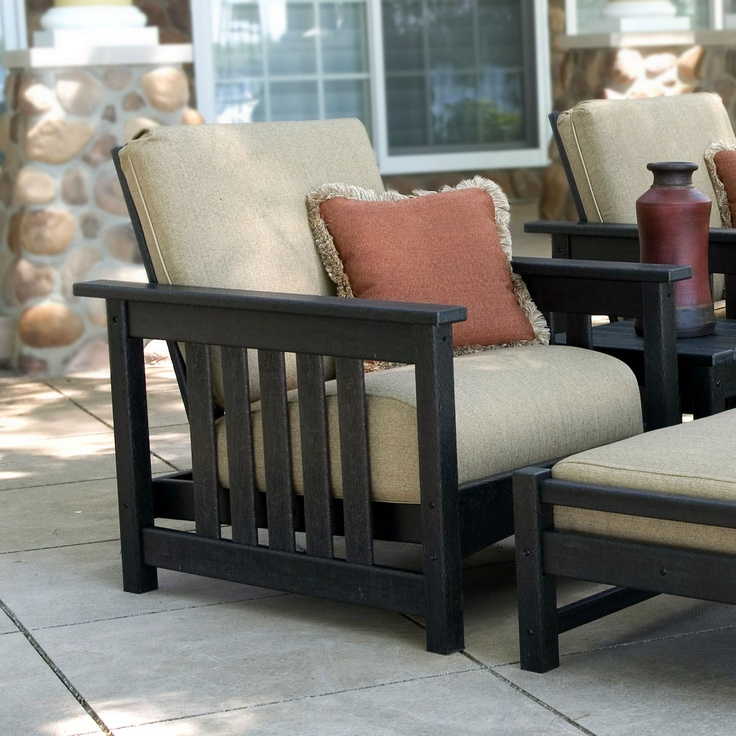 POLYWOOD Club Mission Chair Is A Deep Seating That Brings The Comforts Of Your Living Room To Outdoor Patio Furniture