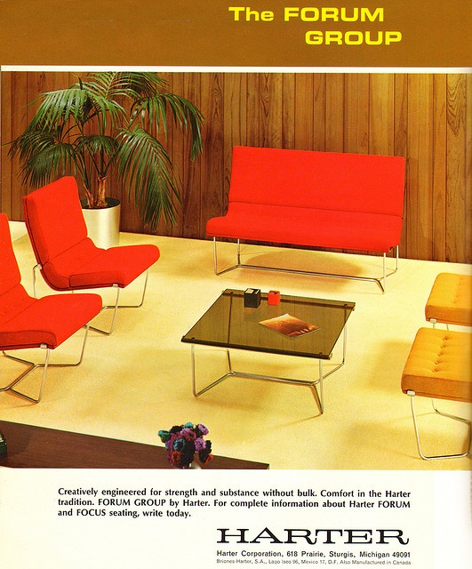 Harter Furniture Ad The Forum Group 1966
