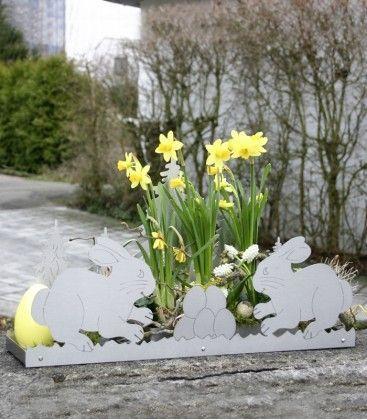 #deko #deko-tablett #ostern #easter #osterhase #easterbunny #edelstahl #deco #st… – Blumenarrangements im Haus