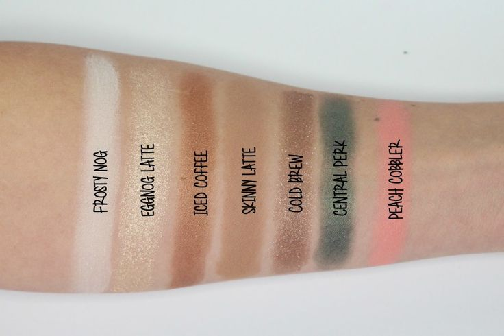 Too Faced Grand Hotel Cafe - Eggnog Latte Swatches