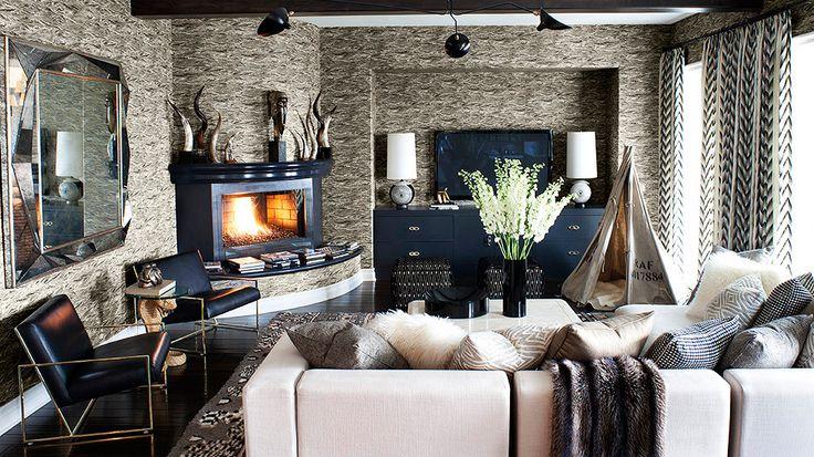 The Best Style Lessons 12 Top Designers Learned From Mom // Mother's Day, Jeff Andrews, Kourtney Kardashian's living room: Decor, Interior, Living Rooms, Idea, Livingroom, Kourtneykardashian, Family Rooms, House, Kourtney Kardashian S