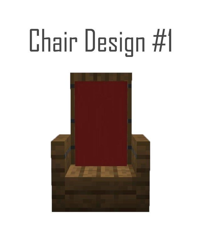 Chair Design 1 Detailcraft In 2020 Minecraft Designs Minecraft Decorations Minecraft