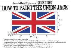 How to paint the Union Jack flag....tutorial on stripe for Joshua's wall