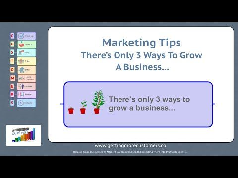 Marketing Tips - There Are Only 3 Ways To Grow A Business #3