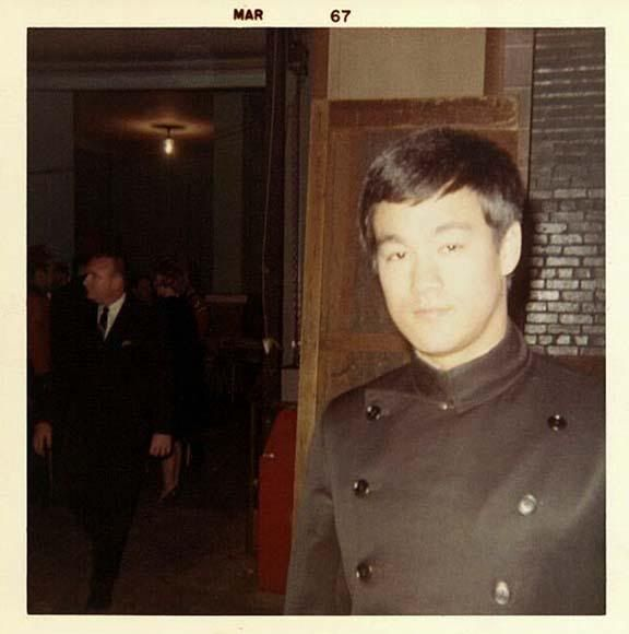 Bruce Lee as Kato on the set of The Green Hornet