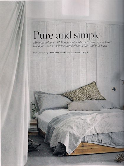 Love This Simple U0026 Rustic Feel. Find This Pin And More On Pure Linen Bedding  ...